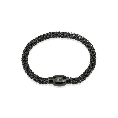 Bracelet Acier Multi Billes Noir