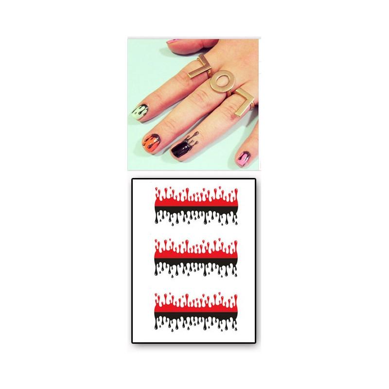 Tatouages Temporaires Ongles et Cuticules Gouttes