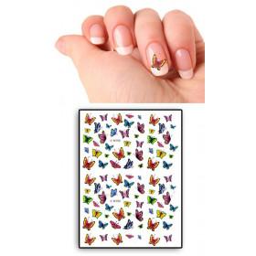 Tatouages Temporaires Ongles Papillons multicolors