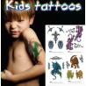 Tatouages temporaires enfants Animaux Pack 1
