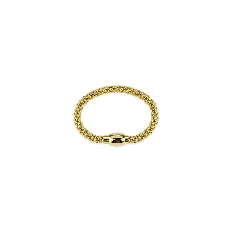 Bracelet en Acier chirurgical inoxydable couleur or Multi Billes Doré