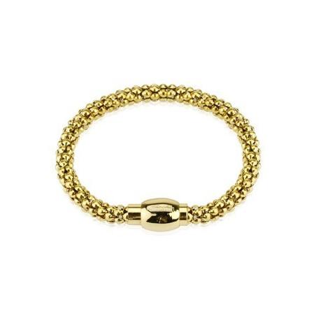 Bracelet Acier Multi Billes Doré
