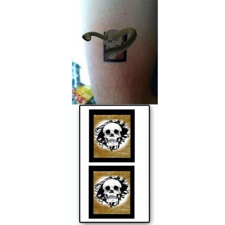 Tatouages temporaires AR Tete de mort