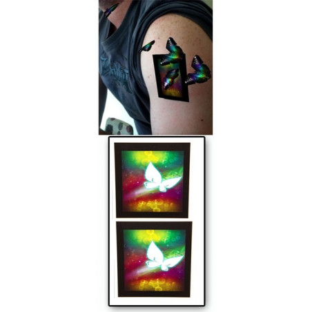 Tatouages temporaires Augmented reality Papillons
