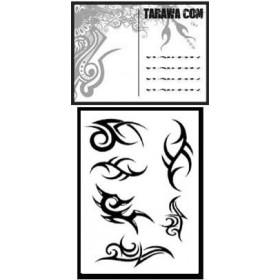 Carte postale Tribal tatouage temporaire