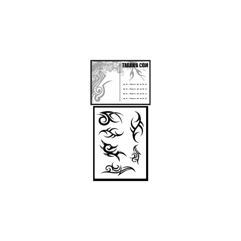 Carte postale Tribal tatouage temporaire