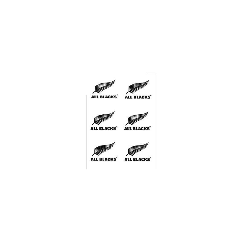 Tatouage temporaire stickers Rugby équipe de la Nouvelle Zélande Hall Black