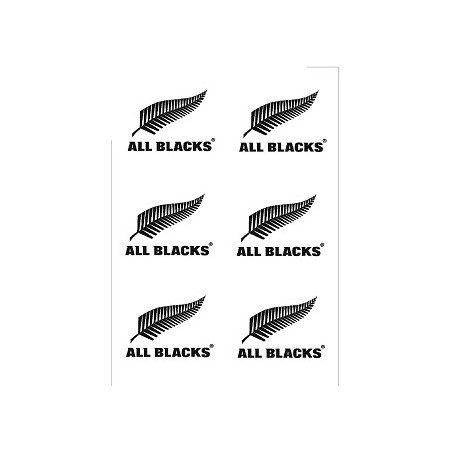 Tatouage stickers Rugby All Black