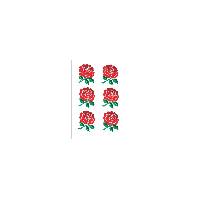 Tatouage temporaire stickers Rugby équipe de la rose Angleterre