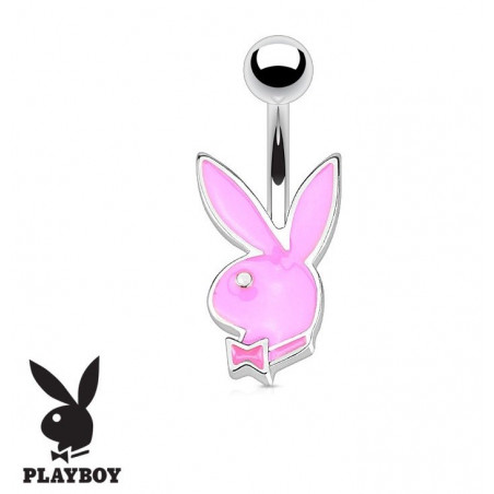 Piercing nombril Playboy 1.2mm couleur rose