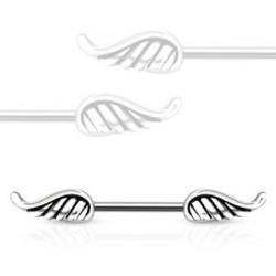 Piercing téton aile d'ange acier