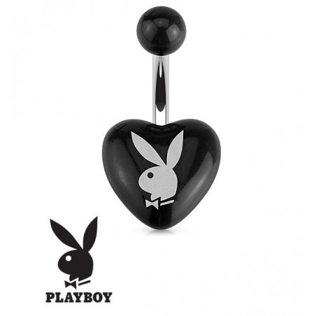 Piercing nombril Playboy coeur Noir