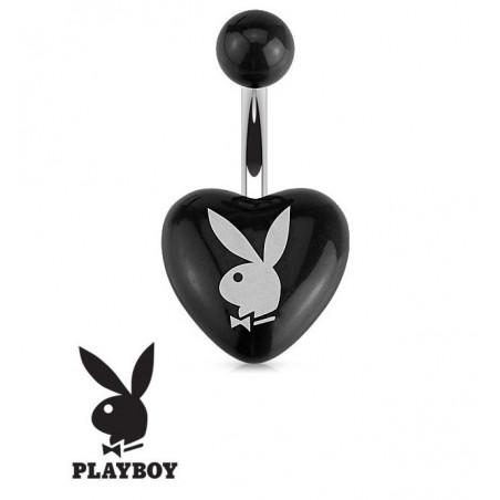 Piercing nombril Playboy coeur Noir
