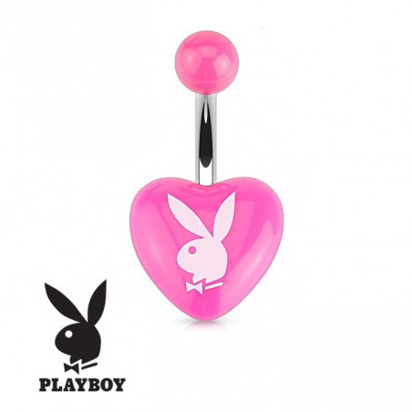 Piercing nombril Playboy coeur Rose