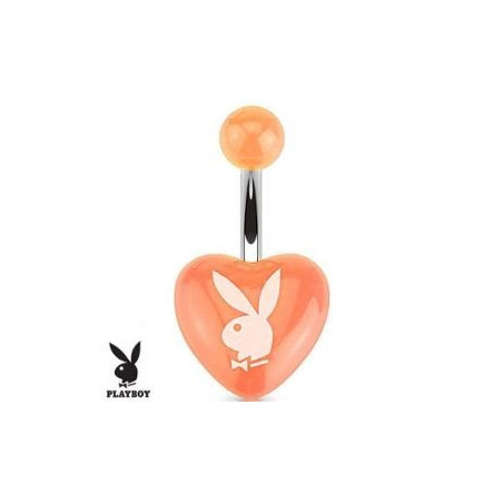 Piercing nombril Playboy coeur Orange