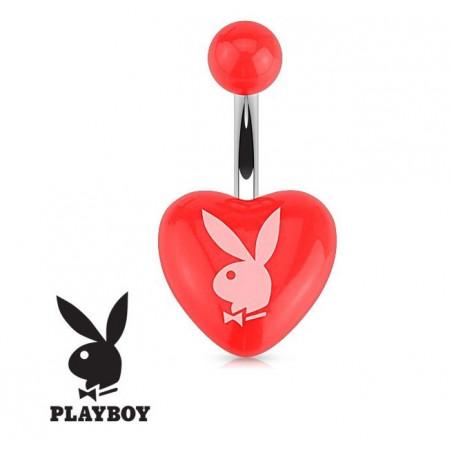 Piercing nombril Playboy coeur Rouge