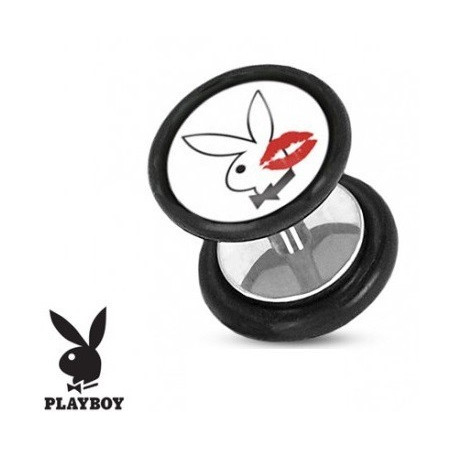Faux piercing plug playboy kiss