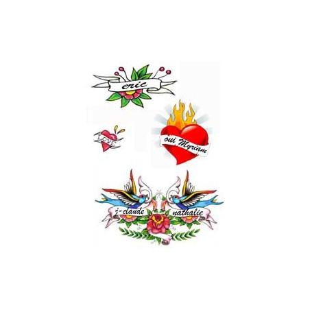 Tatouage Mariage Fetes Anniversaire ou Declaration