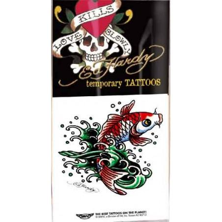 Ed Hardy Tattoos temporaires Poisson KOI