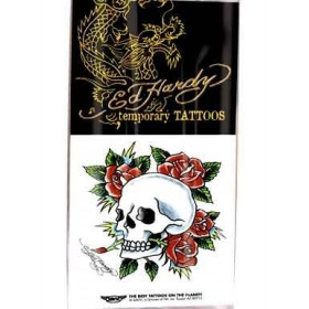 Ed Hardy Tattoos temporaires Tete de mort