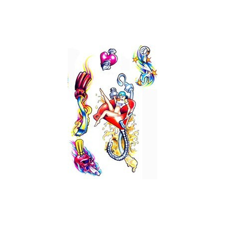 Tattoo Pin up autocollant
