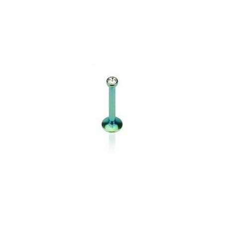 Piercing labret titane anodisé Vert