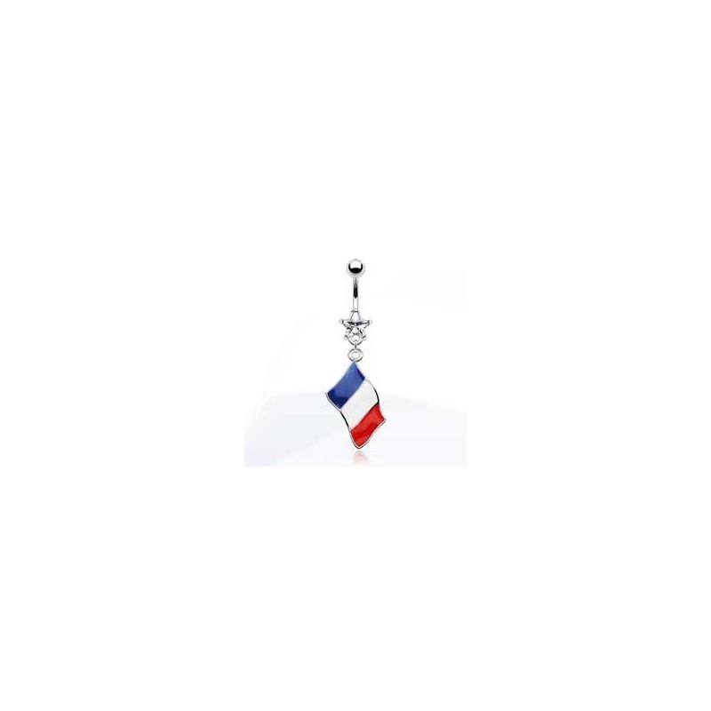Piercing nombril pendentif pays drapeau de la Hollande