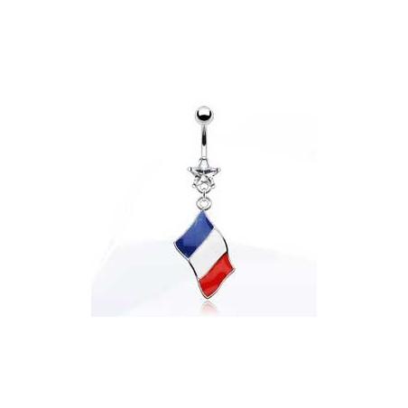 Piercing nombril drapeau de la Hollande
