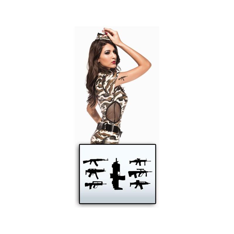 Tatouages temporaires Armes Fusils