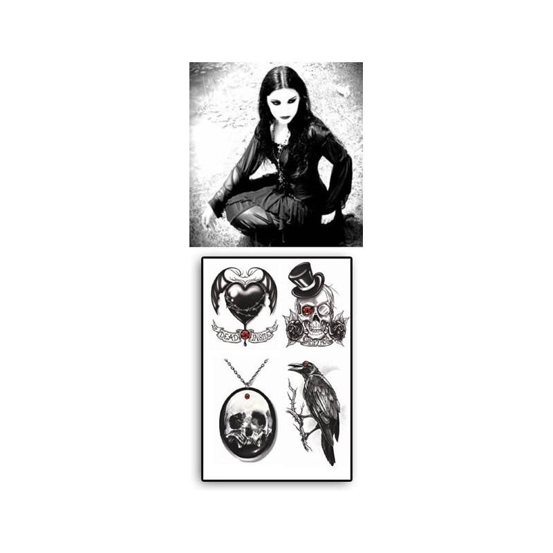 Tatouage Temporaire Goth the Raven