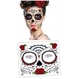 Tattoo Masque Visage Dia de los Muertos