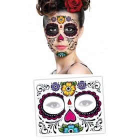 Tattoo Masque fleur Visage Dia de los Muertos