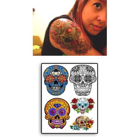 Tatouages temporaires Sugar Skull