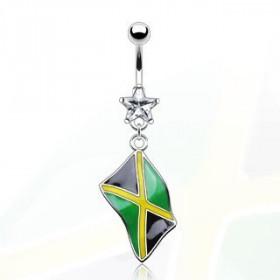 Piercing nombril drapeau pay de la Jamaïque