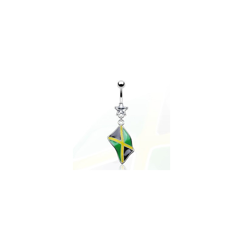 Piercing nombril drapeau pay de la Jamaïque