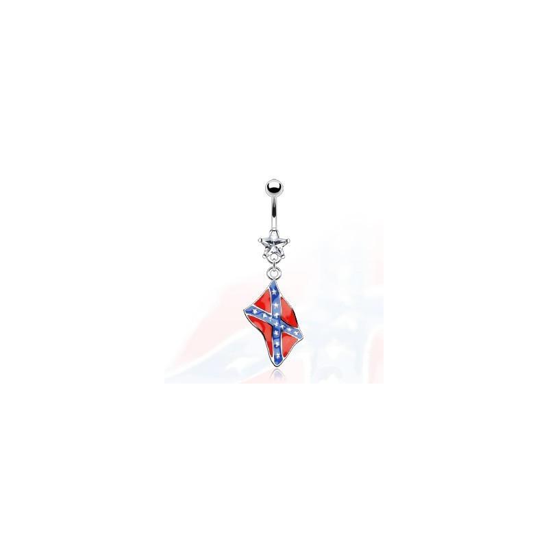 Piercing nombril pendentif drapeau Rebels