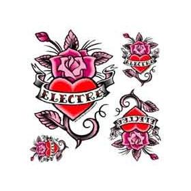 Tattoo Coeur autocollant Electra