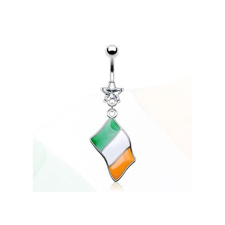 Piercing nombril drapeau Irlande