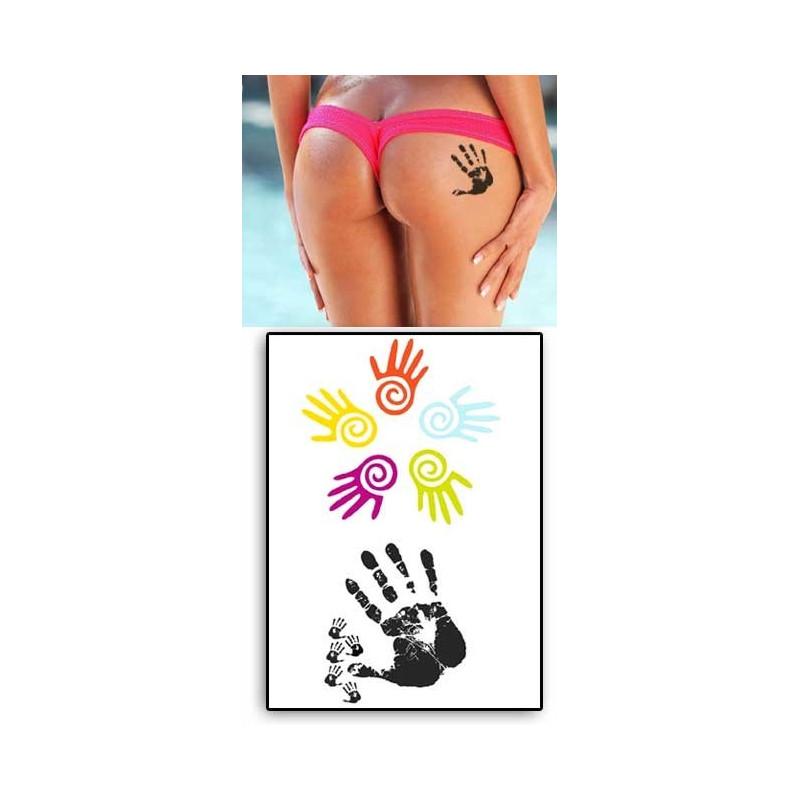 Tatouages temporaires Marques de Mains couleurs