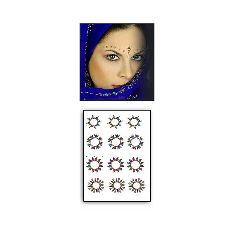 Tattoos temporaires Bindis Hindou Soleil