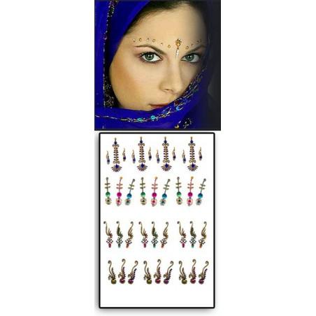 Tattoos temporaires Bindis Hindou Bridal