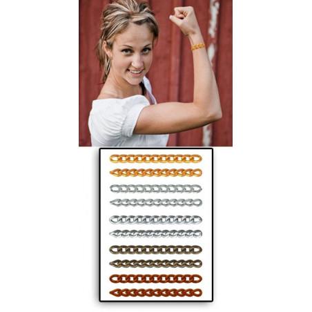 Tatouages temporaires Bracelets chaines Gold et Silver