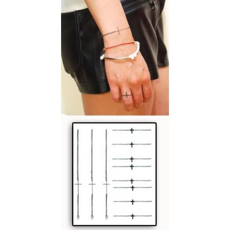 Tatouages temporaires Bracelet et Bague Croix