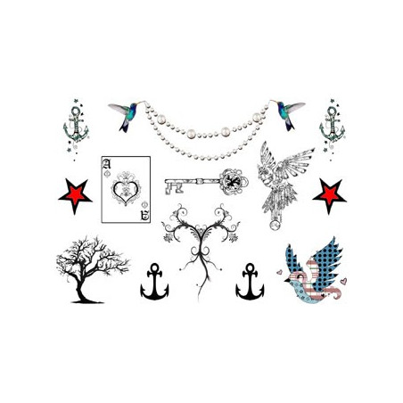 Tatouages temporaires chaines