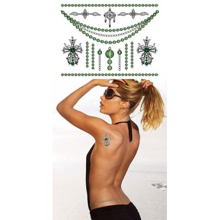 Tatouages temporaires chaines bijoux