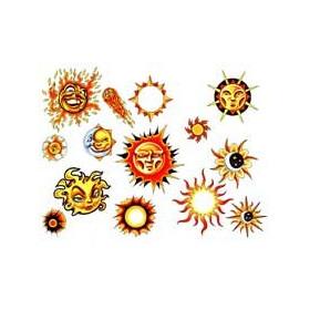 Tatouages 14 Soleils autocollants