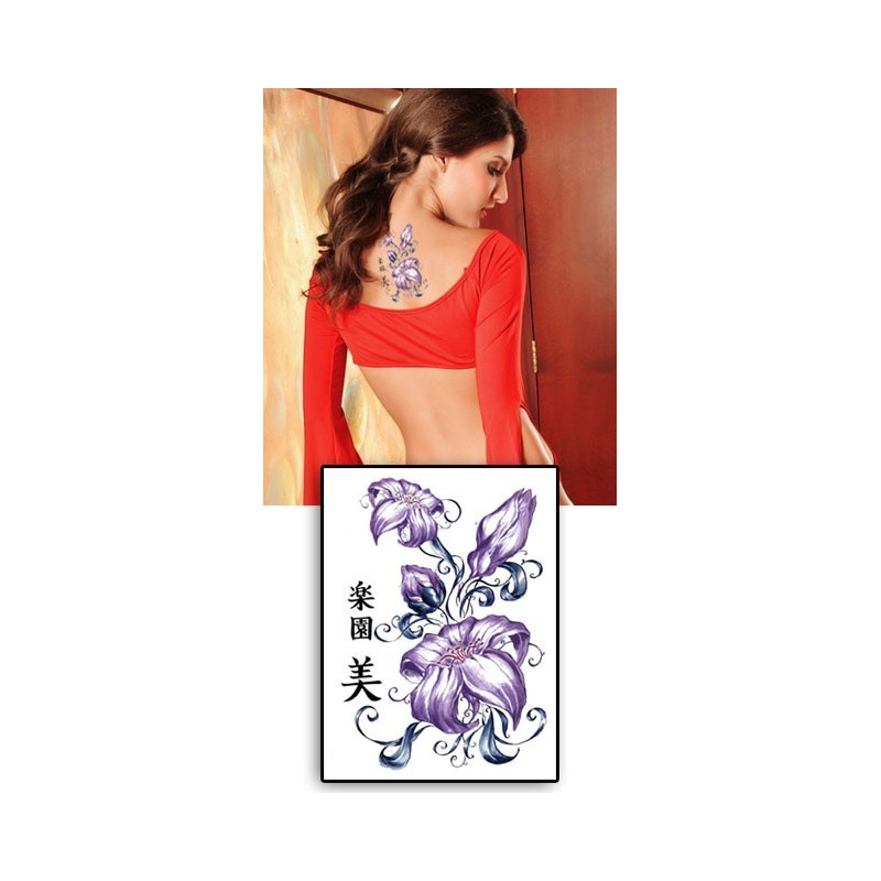 Tatouages temporaires Fleurs chinoises