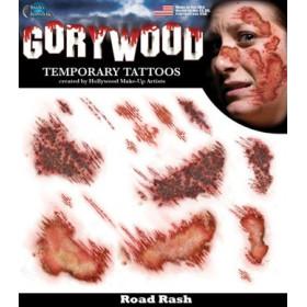 Tatouage Temporaire Horreur Peau Crash