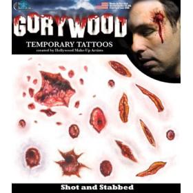 Tatouage Temporaire Horreur balles et coupures