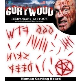 Tatouages temporaires Horreur Scarification